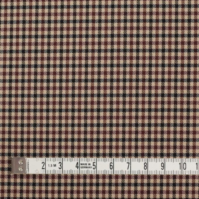 ナイロン&ポリエステル混×チェック(モカブラウン)×サージストレッチ_イタリア製 イメージ4