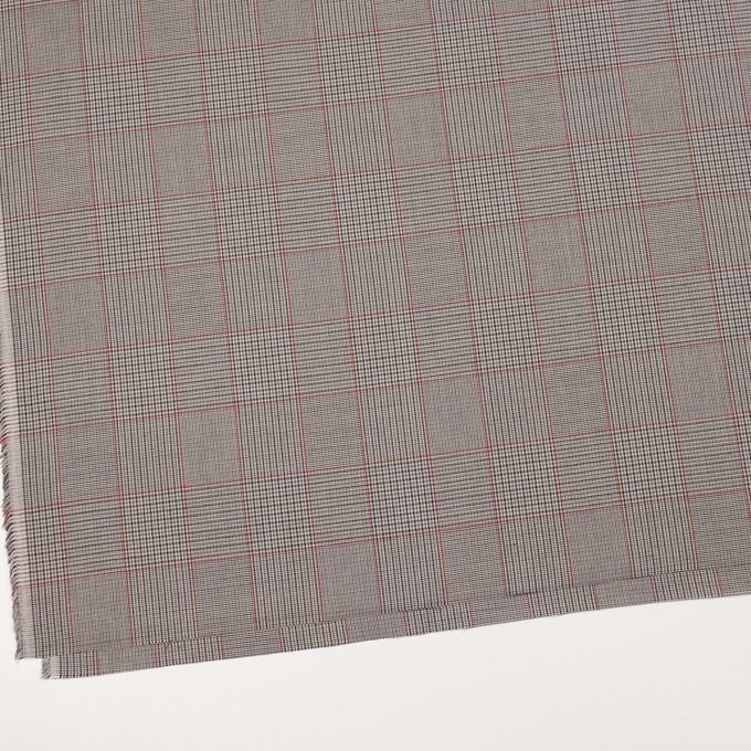 コットン×チェック(ダブグレー)×ポプリン イメージ2