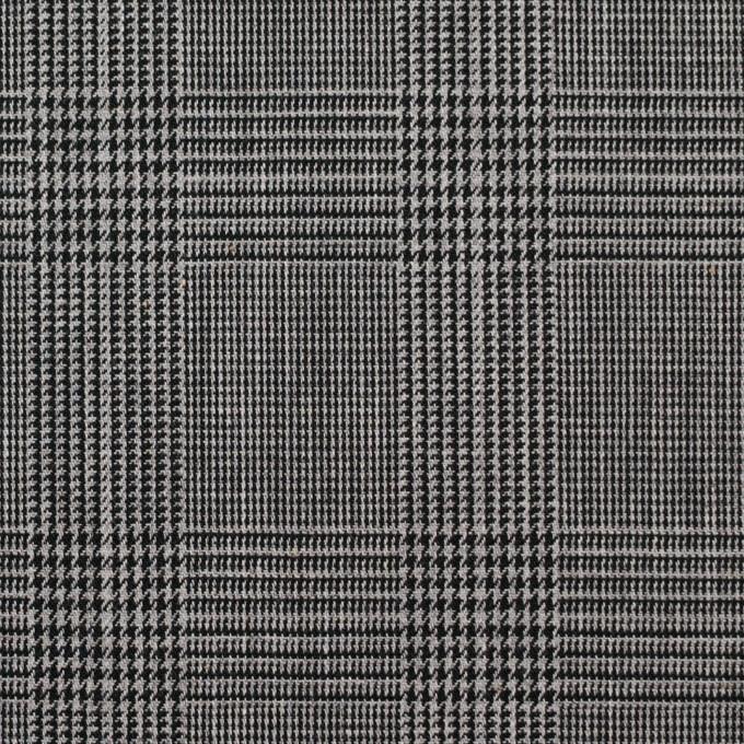 コットン×チェック(チャコール)×ポプリン イメージ1
