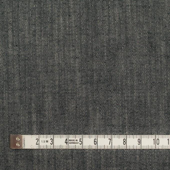 コットン×ミックス(アイボリー&ブラック)×ヘリンボーン イメージ4