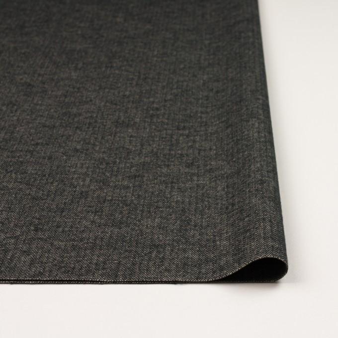 コットン&ポリウレタン×ミックス(キナリ&ブラック)×ヘリンボーン・ストレッチ イメージ3