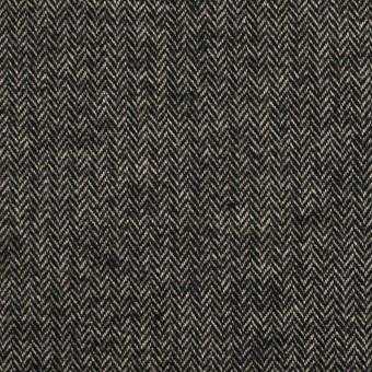 コットン&ポリウレタン×ミックス(キナリ&ブラック)×ヘリンボーン・ストレッチ サムネイル1