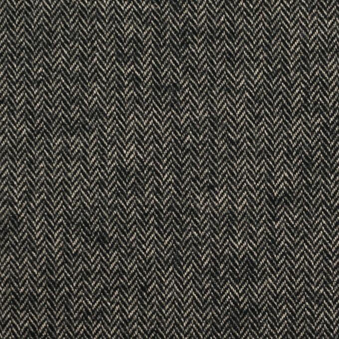 コットン&ポリウレタン×ミックス(キナリ&ブラック)×ヘリンボーン・ストレッチ イメージ1