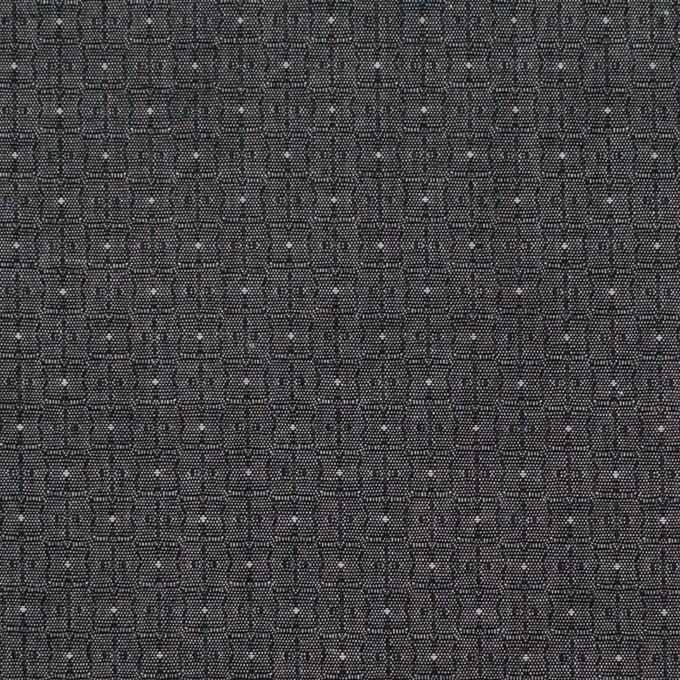 コットン×幾何学模様(チャコール)×ジャガード_全2色 イメージ1