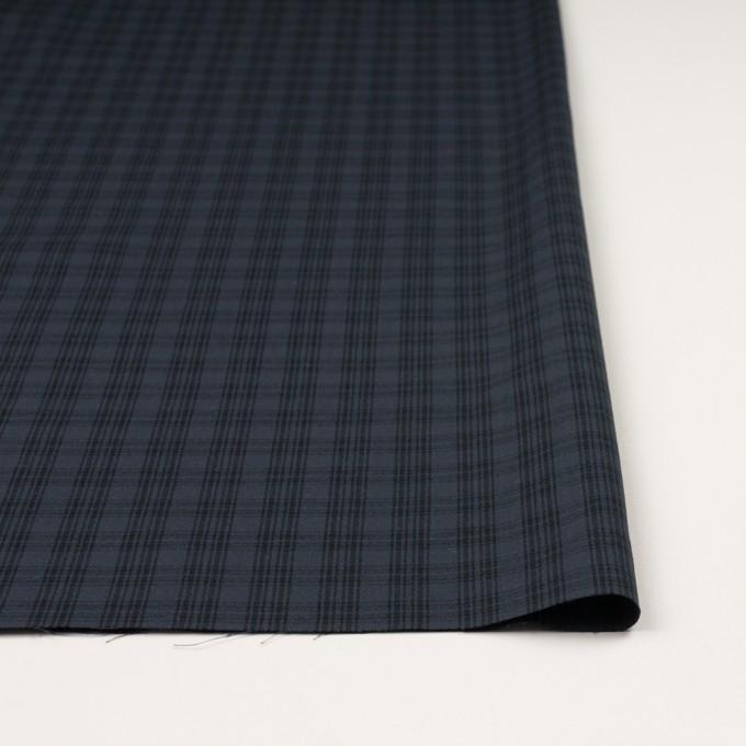 コットン×チェック(ブルイッシュグレー&ブラック)×ジョーゼット イメージ3