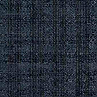 コットン×チェック(ブルイッシュグレー&ブラック)×ジョーゼット サムネイル1