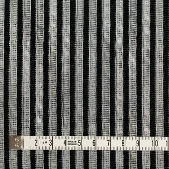 コットン&ポリエステル×ストライプ(シルバー&ブラック)×Wニット サムネイル4