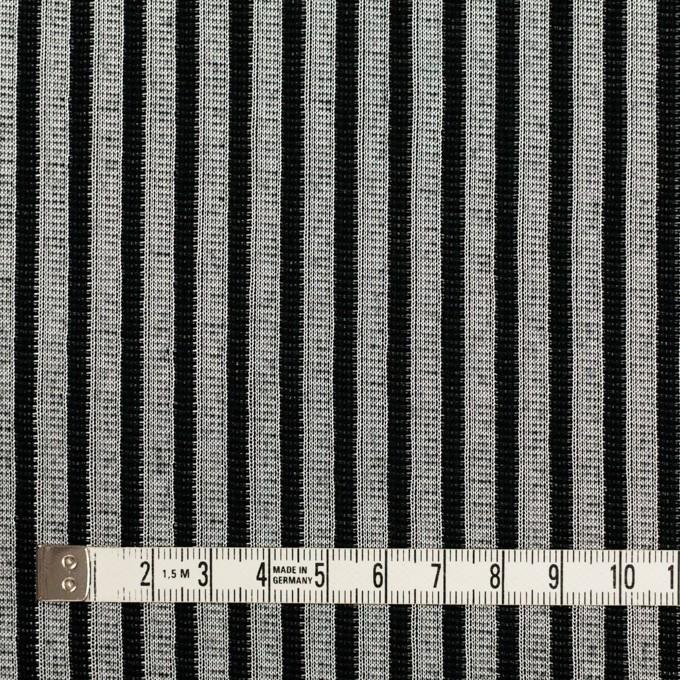 コットン&ポリエステル×ストライプ(シルバー&ブラック)×Wニット イメージ4
