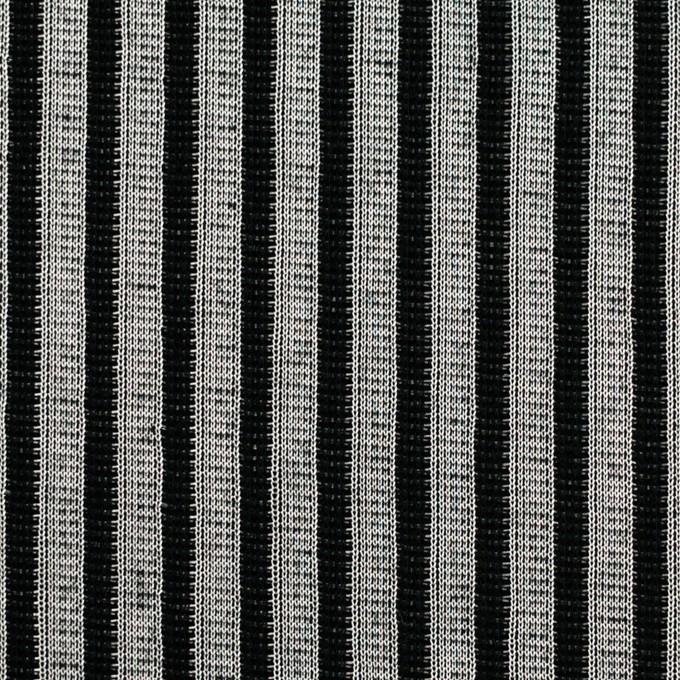 コットン&ポリエステル×ストライプ(シルバー&ブラック)×Wニット イメージ1