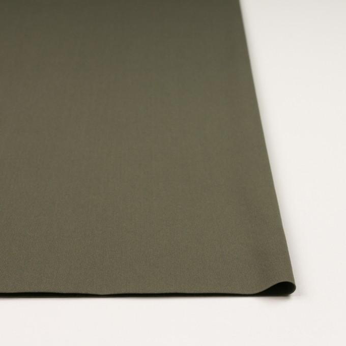 リヨセル&ポリウレタン×無地(カーキグリーン)×トリコット_全4色 イメージ3