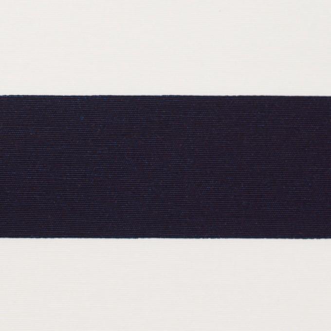 ナイロン&コットン×ボーダー(ネイビー)×タッサーポプリン イメージ1
