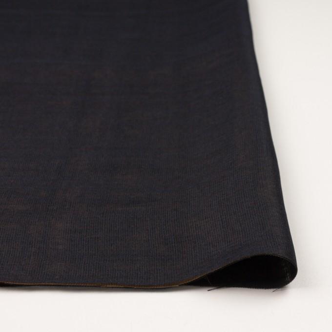 ウール&シルク×無地(ダークネイビー&ゴールド)×トリプルガーゼ_イタリア製 イメージ3