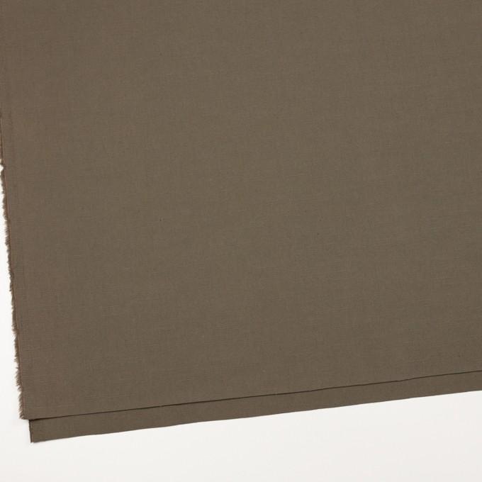 コットン&リネン混×無地(モスグレー)×キャンバス・ストレッチ_イタリア製 イメージ2