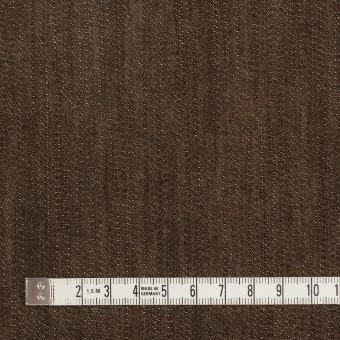コットン&ポリウレタン×無地(ダークブラウン)×カツラギ・ストレッチ サムネイル4