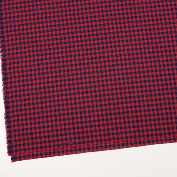 コットン&ポリエステル×チェック(ネイビー&トマト)×ヘリンボーン_全4色 イメージ2