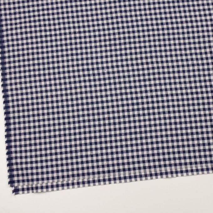コットン&ポリエステル×チェック(ネイビー&オフホワイト)×ヘリンボーン_全4色 イメージ2
