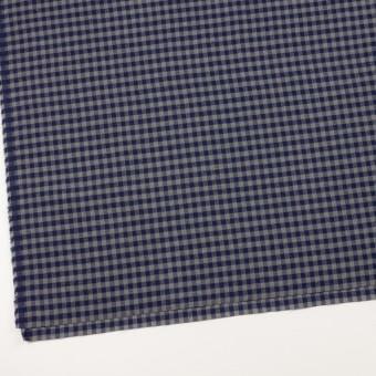 コットン&ポリエステル×チェック(ネイビー&グレー)×ヘリンボーン_全4色 サムネイル2