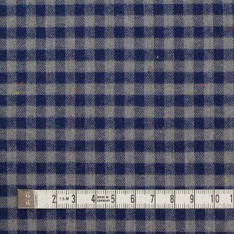コットン&ポリエステル×チェック(ネイビー&グレー)×ヘリンボーン_全4色 サムネイル4