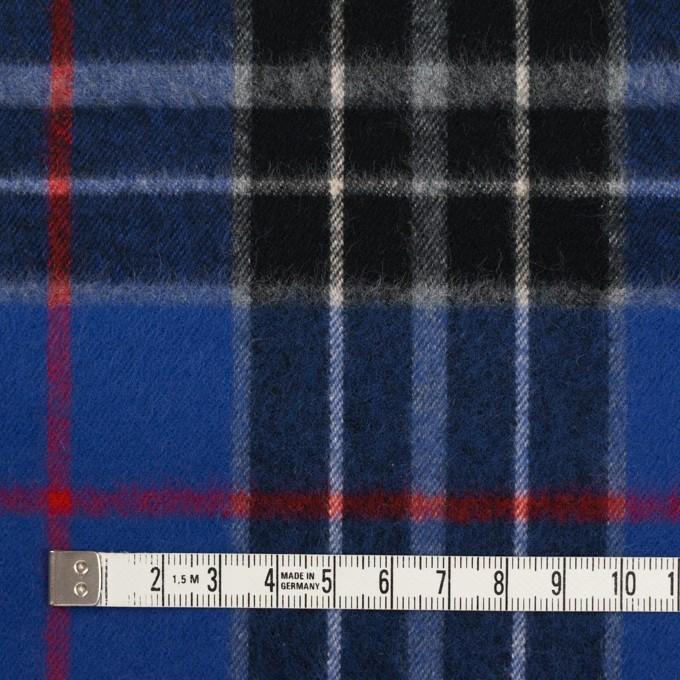 コットン×チェック(マリンブルー&ブラック)×フランネル イメージ4