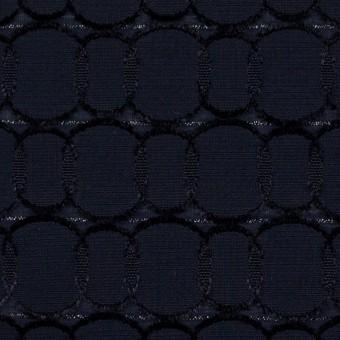 ポリエステル&レーヨン混×サークル(ダークネイビー)×ボイルカットジャガード_全2色 サムネイル1