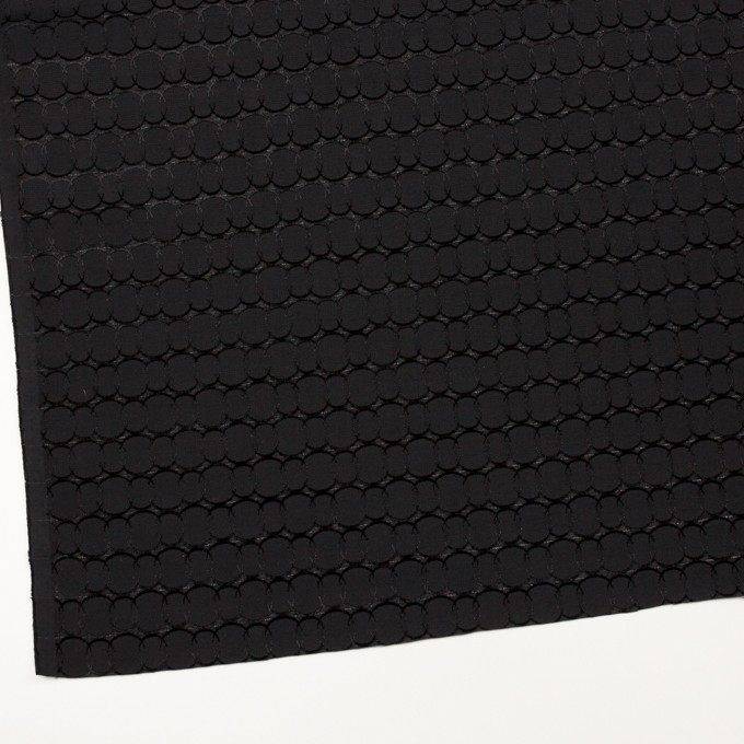 ポリエステル&レーヨン混×サークル(ブラック)×ボイルカットジャガード_全2色 イメージ2
