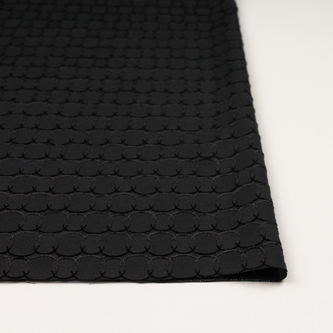 ポリエステル&レーヨン混×サークル(ブラック)×ボイルカットジャガード_全2色 イメージ3