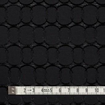 ポリエステル&レーヨン混×サークル(ブラック)×ボイルカットジャガード_全2色 サムネイル4