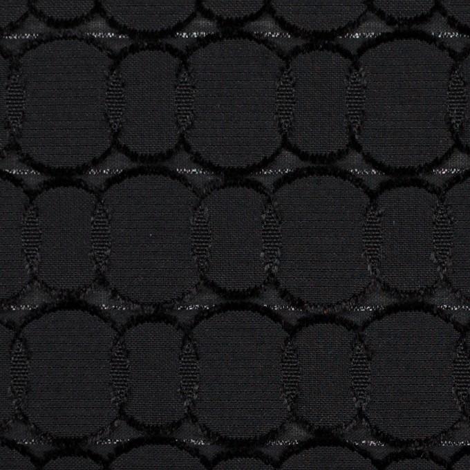 ポリエステル&レーヨン混×サークル(ブラック)×ボイルカットジャガード_全2色 イメージ1