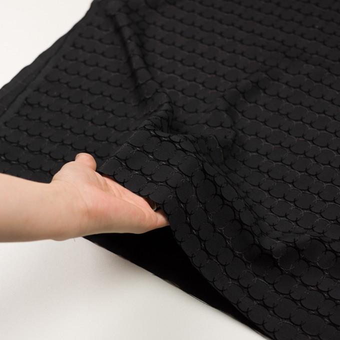 ポリエステル&レーヨン混×サークル(ブラック)×ボイルカットジャガード_全2色 イメージ5