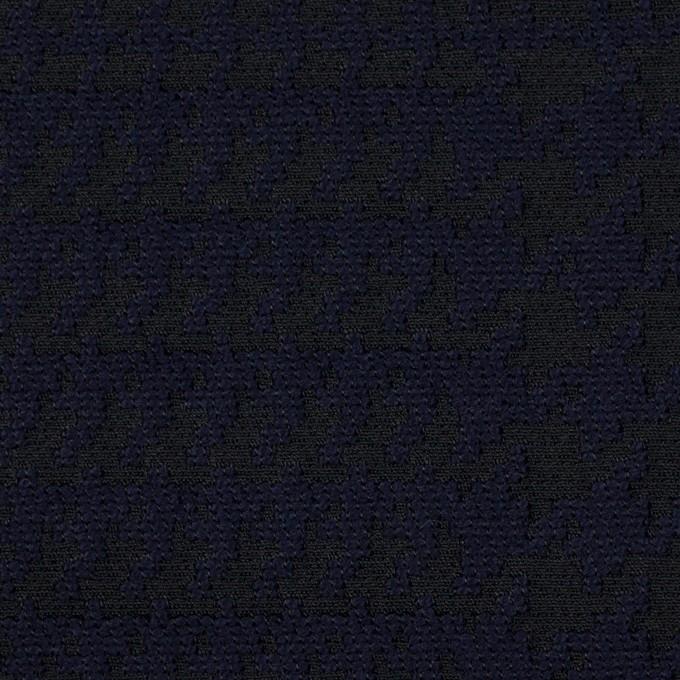 ポリエステル&ウール×チェック(ダークネイビー)×ジャガード イメージ1