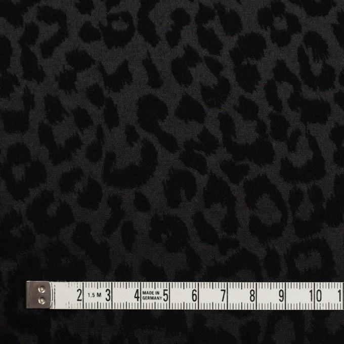 コットン&ポリエステル混×レオパード(ブラック)×サテンジャガード・ストレッチ イメージ4