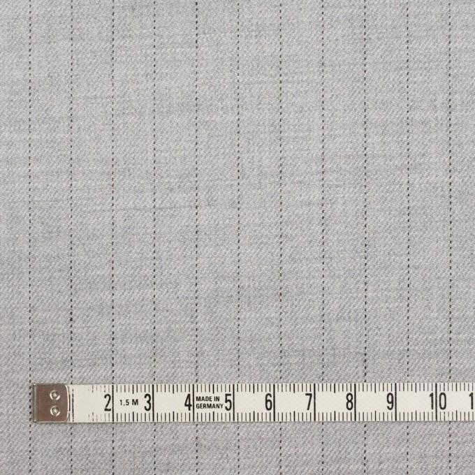 ウール&レーヨン混×ストライプ(シルバーグレー)×サージストレッチ イメージ4
