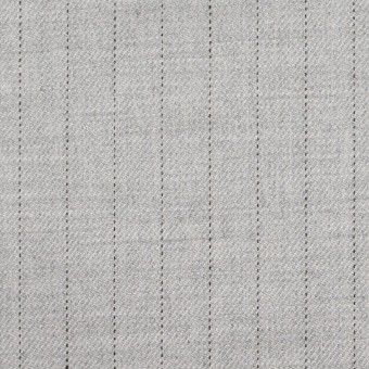 ウール&レーヨン混×ストライプ(シルバーグレー)×サージストレッチ サムネイル1
