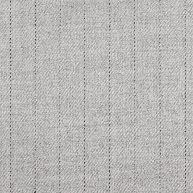 ウール&レーヨン混×ストライプ(シルバーグレー)×サージストレッチ イメージ1