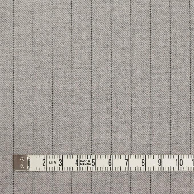 ウール&ポリエステル混×ストライプ(ライトグレー)×サージストレッチ イメージ4
