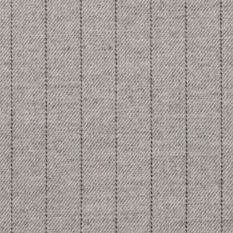 ウール&ポリエステル混×ストライプ(ライトグレー)×サージストレッチ サムネイル1