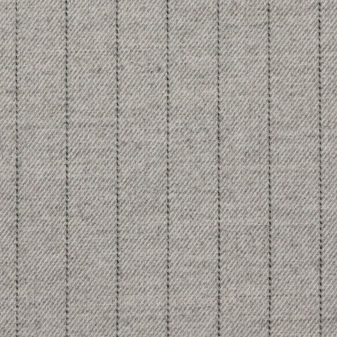 ウール&ポリエステル混×ストライプ(ライトグレー)×サージストレッチ イメージ1