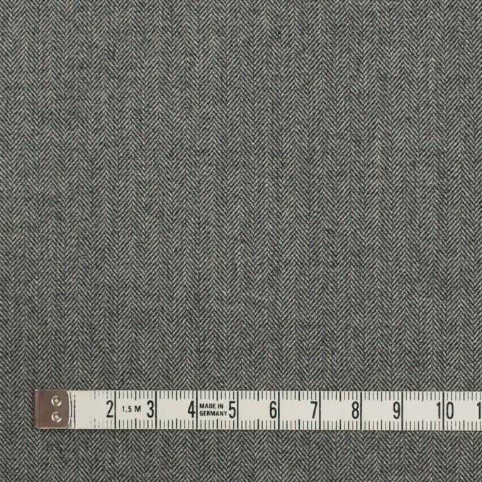 コットン&ポリウレタン×ミックス(グレー)×ヘリンボーン・ストレッチ イメージ4