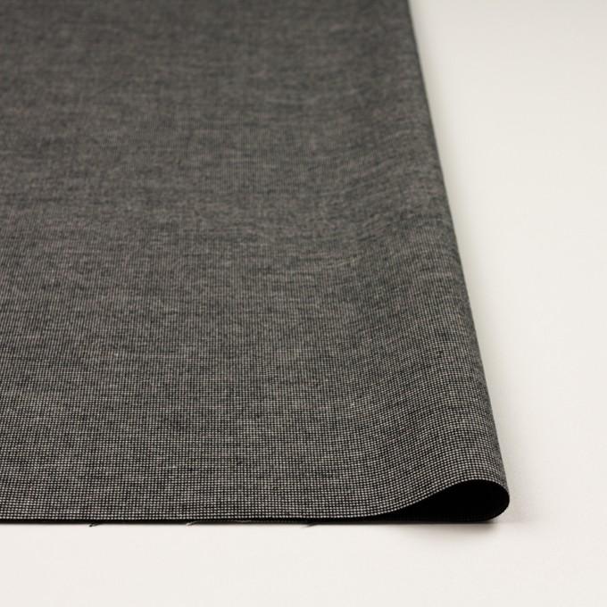 コットン&ポリウレタン×ミックス(チャコール)×かわり織ストレッチ イメージ3