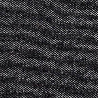 コットン&アクリル混×ミックス(チャコールブラック)×Wニット