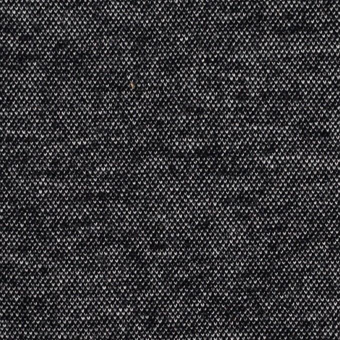 コットン&アクリル混×ミックス(チャコールブラック)×Wニット イメージ1