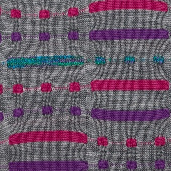 ウール&ナイロン混×幾何学模様(グレー)×天竺ジャガードニット_全3色 サムネイル1