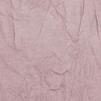 コットン&ポリエステル×無地(グレイッシュピンク)×天竺ニットワッシャー_全3色