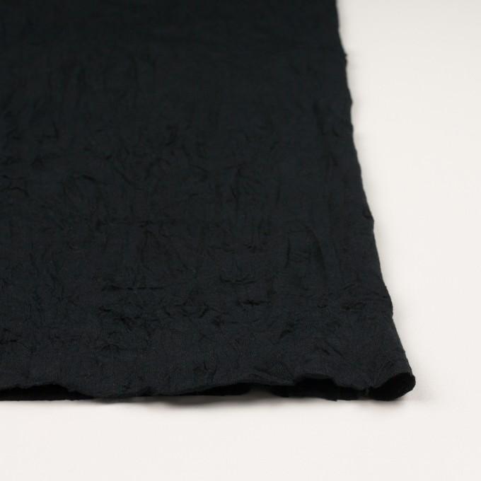 コットン&ポリエステル×無地(ブラック)×天竺ニットワッシャー_全3色 イメージ3
