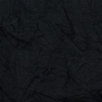 コットン&ポリエステル×無地(ブラック)×天竺ニットワッシャー_全3色