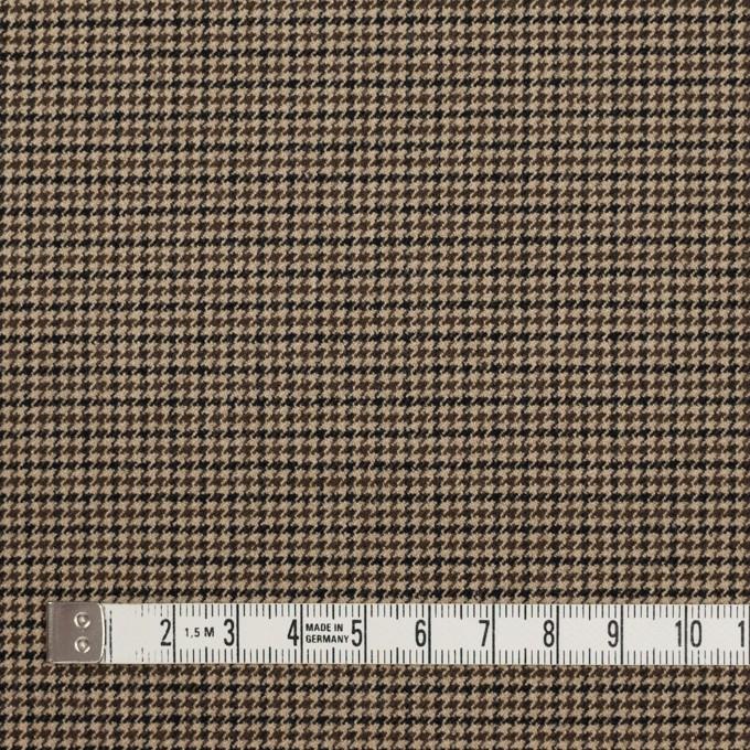 ポリエステル&レーヨン混×チェック(モカ)×千鳥格子ストレッチ イメージ4