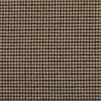 ポリエステル&レーヨン混×チェック(モカ)×千鳥格子ストレッチ サムネイル1