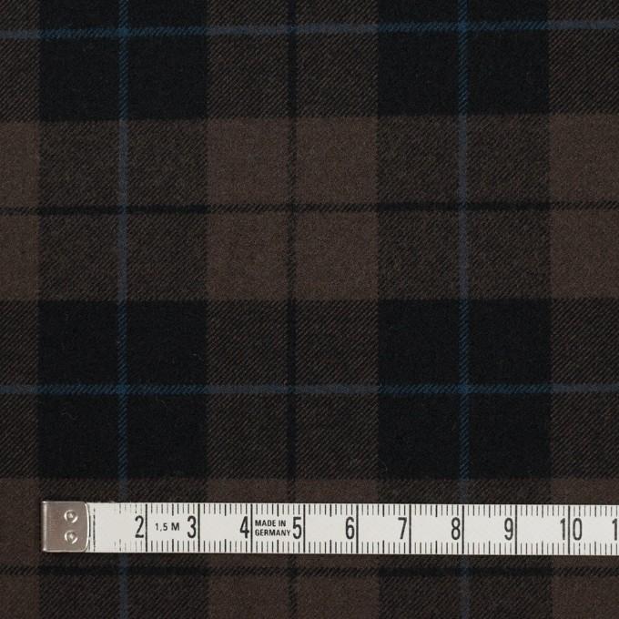 ポリエステル&レーヨン混×チェック(ダークブラウン)×サージストレッチ イメージ4