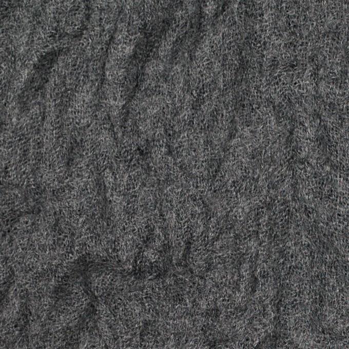 ウール×無地(チャコールグレー)×ガーゼワッシャー_全4色 イメージ1