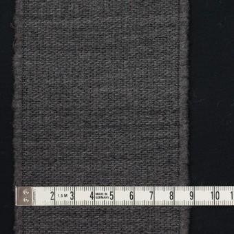 ウール&ポリエステル×ストライプ(チャコールグレー&ブラック)×ジャガード サムネイル4